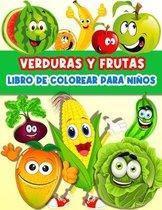 Libro De Colorear Frutas Y Verduras Para Ninos