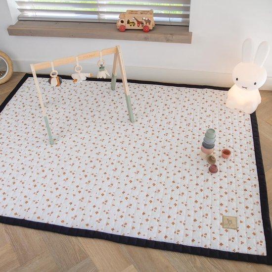 Love by Lily - groot speelkleed baby - Caramel Clovers - 200x150 - speelmat binnen en buiten - speelmat baby