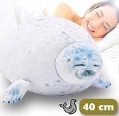 Bob de Zeehond® 40 cm – Zeehond Knuffel Kussen - Dieren Knuffel - Ondersteuning Ondersteuningskussen
