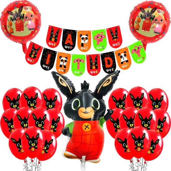 Bing Party Set - Bing Ballonnen - 24 Stuks - Slinger - Ballonnen Verjaardag - Bing Speelgoed - Bing