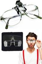 Vergrootglas bril – Loepbril – Incl. opberghoesje, luxe brillendoek