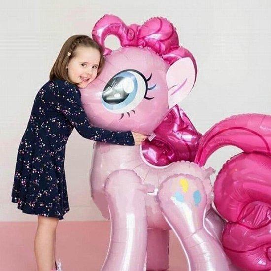 """Eenhoorn Ballon.Unicorn Ballon .Roze """"100X97cm"""" Paard Pony Eenhoorn Folie Ballonnen Gelukkige Verjaardag"""