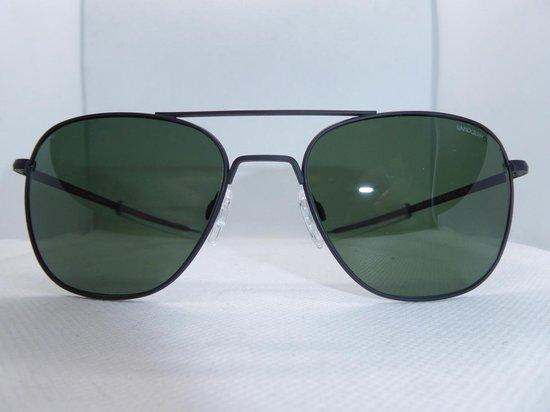 Randolph zonnebril , aviator, mat zwart, skytec polarized, maat 58