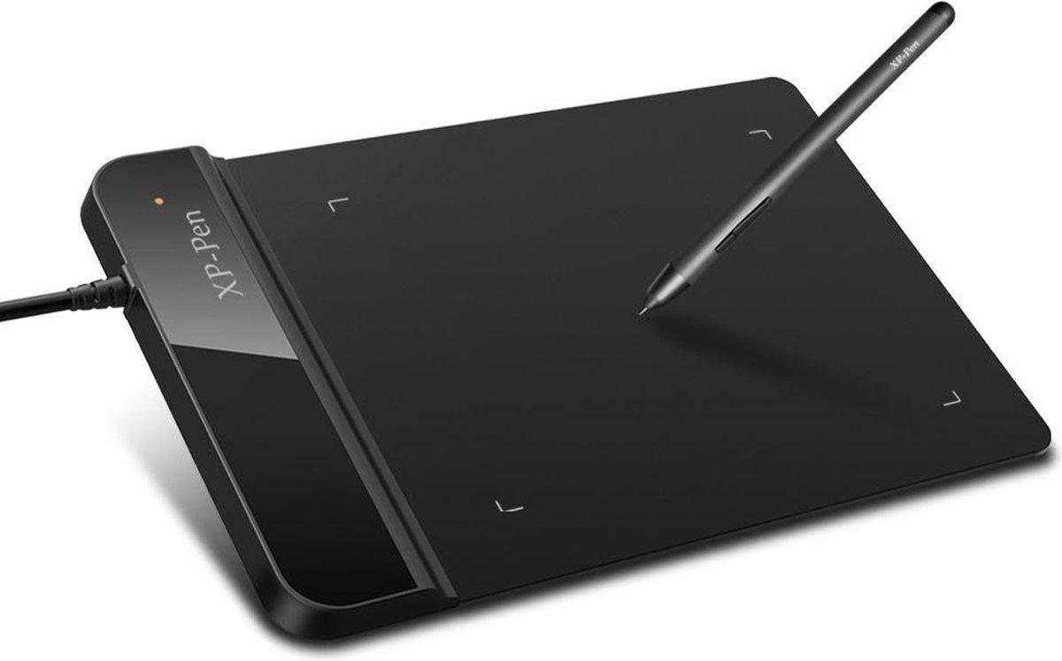 WiseGoods Premium Grafische Teken Tablet - Professioneel Digitaal Tekenbord - Tekentablet & Stylus - Ergonomisch - 30 CM - Zwart
