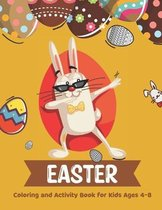Easter Coloring and Activity Book for Kids Ages 4-8