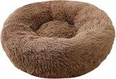 Dailyibed hondenmand - donut - hondenkussen - hondenbed - S - 40x40x16 cm - Bruin