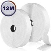 AWEMOZ® Klittenband Zelfklevend - Witte Velcro - Klussen - 2 x 12 m Velcro Tape - 2 cm breed