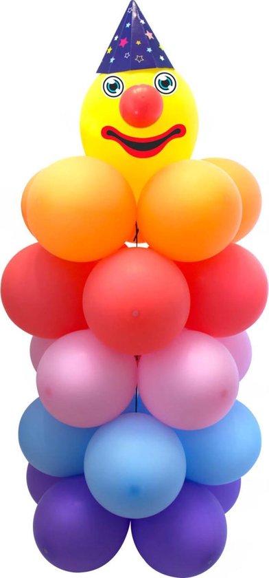 Clown Ballonnenpilaar Set 55cm