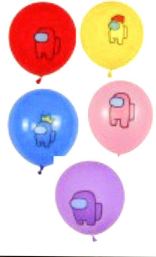 Among Us Ballonnen - 15 Stuks - Ballonnen Verjaardag - Latex Ballonnen - Games