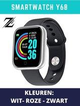 ZORIX®-Smartwatch Y68 - Activity Tracker -Stappenteller - Bloeddrukmeter - Hartslagmeter - Horloge -Zwart