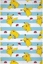 Pokemon Fleece Plaid Deken 130x170cm 100% Polyester