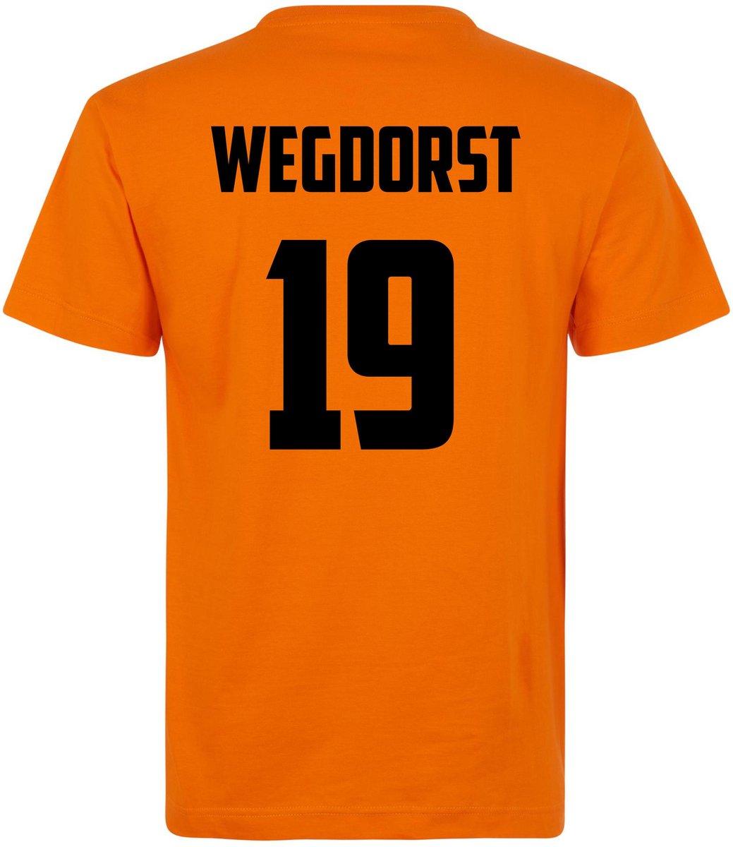 T-shirt oranje Holland WEGDORST 19 | EK Voetbal 2020 2021 | Nederlands elftal shirt | Nederland supporter | Holland souvenir ...