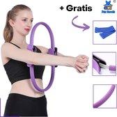 Fox Goods Pilates Ring - Yoga Ring - Sport Ring - Fitness Ring - Yoga Oefeningen - Paars - 38CM - Gratis Resistance Band