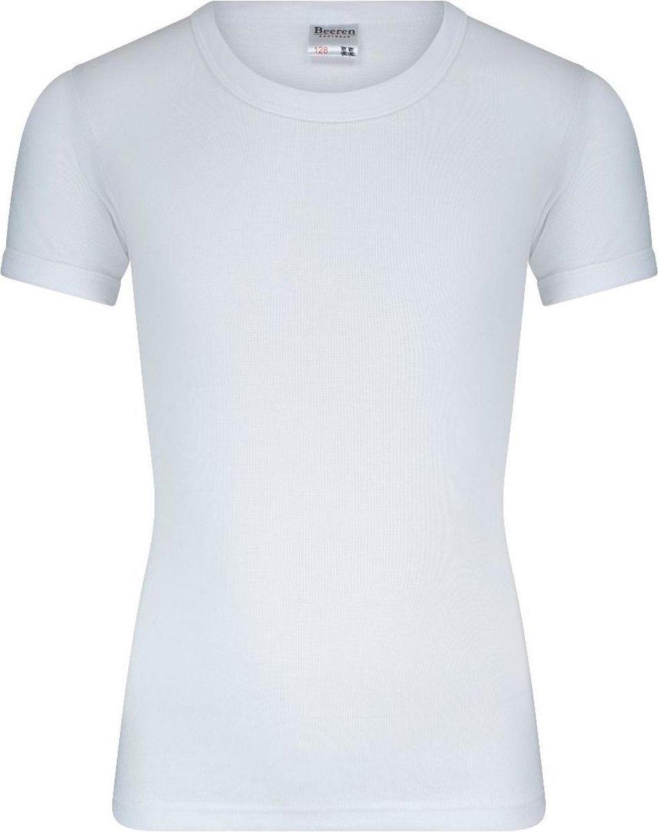 Beeren Bodywear Jongens T-Shirt - Wit - maat 152