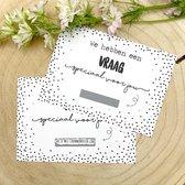 """Kraskaart """"Ceremoniemeester"""" - Wil je onze ceremoniemeester zijn? Ceremoniemeester vragen bruiloft/ huwelijk - Inclusief kraft envelop - Zwart wit"""