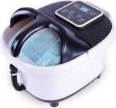 Niceey Massage Voetenbad XL – Elektrisch Voetbad met Bubbelfunctie – 12 Massage Rollers – Infrarood Voetmassage - Zwart