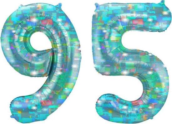 Cijfer 95 Galactic Aqua (86cm)