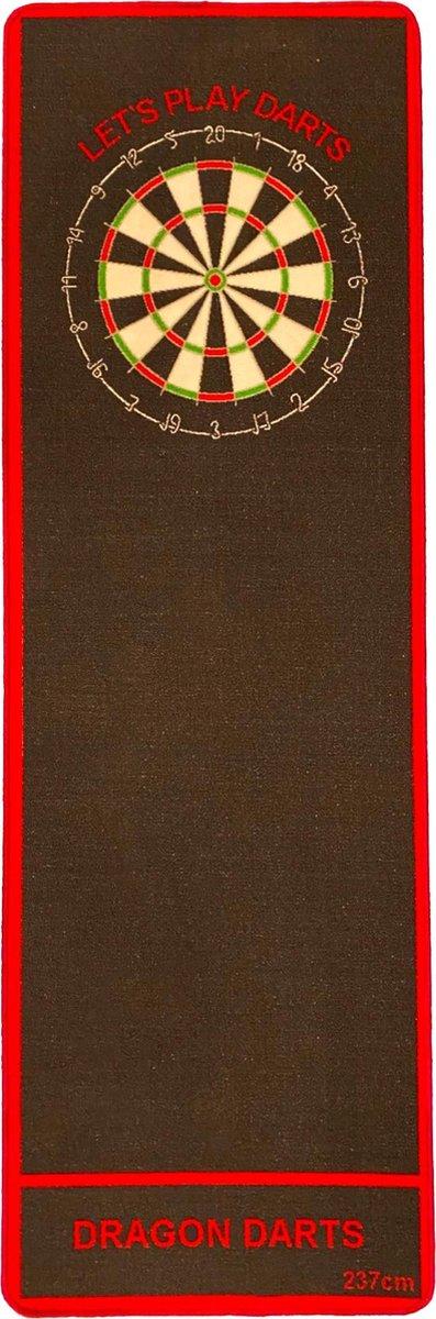 Dragon Darts - dartmat - zwart-rood Original - dart mat - dartmatten
