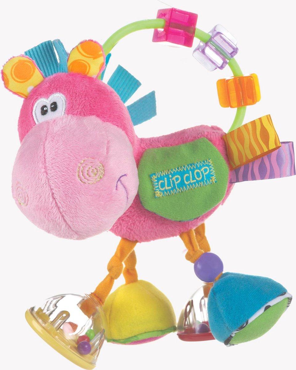 Playgro Clip Clop Rammelaar - Roze - Interactieve Rammelaar - Playgro