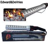 Edward&DeVries - Elektrische BBQ Aansteker - BBQ Accesoires - One Minute Lighter -  BBQ Starter - Looftlighter - Geschikt voor Houtskool en Briketten -
