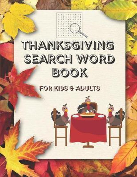 Thanksgiving Search Word Book for Kids and Adults