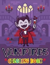 Vampires Coloring Book: Preschool Halloween Book, Ages 4-8, With