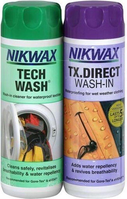 Nikwax Tech Wash & TX Direct - impregneermiddel - wasmiddel - 2pack  - 300 ml