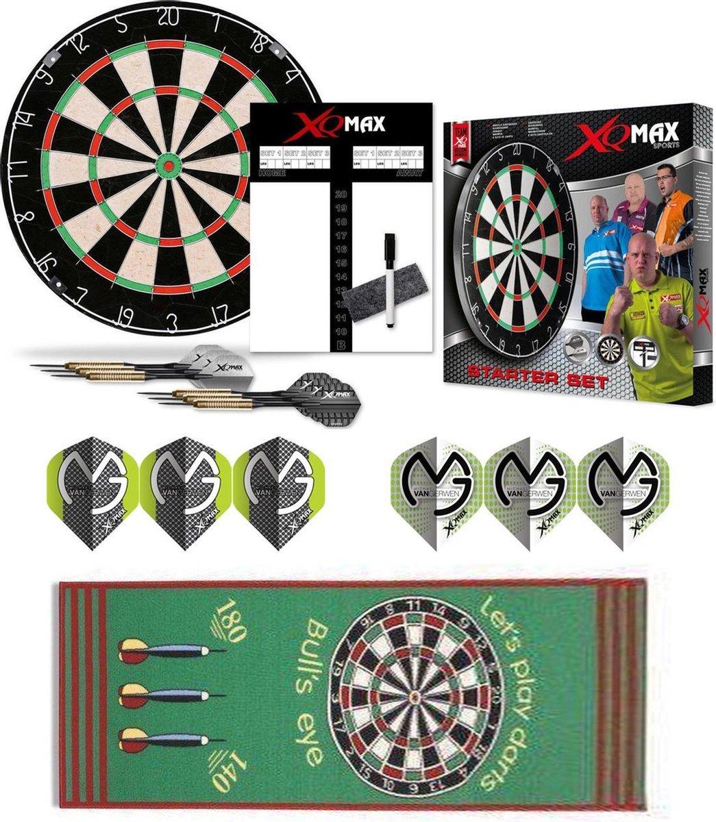 Dragon Darts MvG groene complete dartset - dartbord - dartmat - dart shafts - dart flights - 2 sets - dartpijlen - dartset