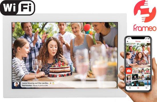 "Denver PFF-1017 White, 10.1"" digitale fotolijst - fotokader - FRAMEO software - 16GB - Glazen touchscreen - Wit"