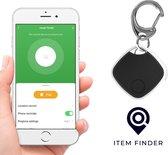 Item Finder - Nooit meer spullen kwijt - Bluetooth tracker - Keyfinder - zwart - 50 meter bereik - met gratis luxe ring + extra batterij - Sleutel vinder - Key finder - Key tracker