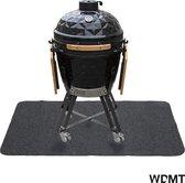 Barbecue vloermat van WDMT™ | 122 x 76 cm | Ideale mat voor onder de barbecue | Beschermt je terrastegels of gazon tegen hete kolen en vetvlekken | Grijs