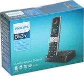 Philips Telefoon D635 Polypropyleen Zwart 2-delig