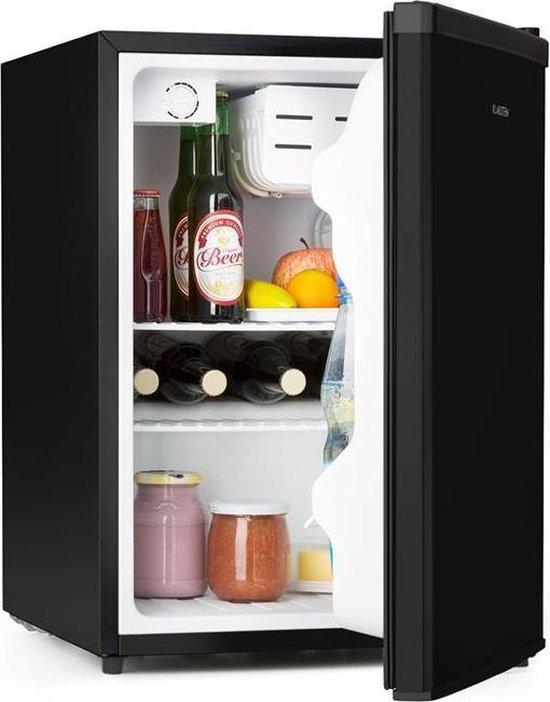 Koelkast: Klarstein Cool Kid Mini koelkast 66 liter met 4 L vriesvak -  compact cooling design - 41dB - zwart, van het merk Klarstein