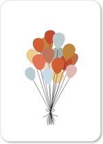 Wenskaart Ballonnen - Verjaardag - A6 - 10 stuks - Kaartenset - Kaarten