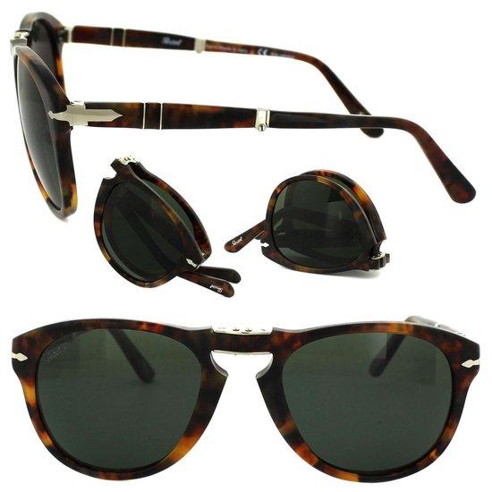 Opvouwbare zonnebril van Persol |PO0714 108/58| Gepolariseerd Groen
