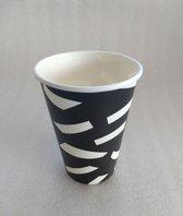 Koffiebeker Black & White 180ml - 2500 stuks
