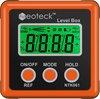 Pigmig Digitale Hoekmeter, LCD-Gradenboog, Bevel Box, Hellingsmeter, Inclinometer, Waterdicht, Waterpas, Oranje