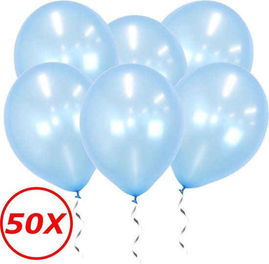 Blauwe Ballonnen Metallic 50 Stuks Verjaardag Luxe Babyshower Ballon