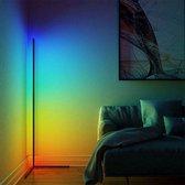 YOUI - Moderne LED Vloerlampen RGB - Sfeerverlichting - Hoeklamp - Met Afstandsbedieningen  - Dimbaar - Zwart - Staande lampen