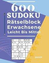 600 Sudoku Ratselblock Erwachsene Leicht Bis Mittel