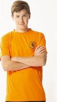 Katoenen oranje heren t-shirt - maat M - maat M