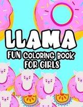 Llama Fun Coloring Book For Girls