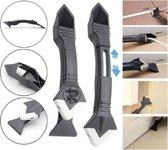 REPUS 2.0 3-in-1 Kit Schraper | Kitspatel | Siliconen kit verwijderaar | De ultieme tool voor kit verwijderen en zetten van strakke randen | Musthave | Cadeau |Mannen|Laslijm |lijmresidue schraper | Naad reparatie tool|