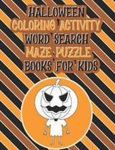 Halloween Coloring Activity Word Search Maze Puzzle Books For Kids