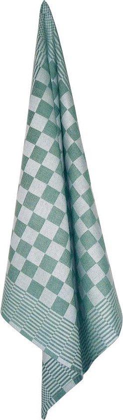 Theedoeken, 6 Stuks, Groen en Wit Geblokt, 65x65cm, Treb WS