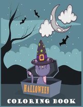 Halloween Coloring Book: Cute Spooky Scary Things Coloring Pages for Toddlers, Ages 4-8, With