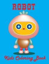 Robot Kids Coloring Book