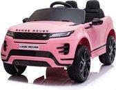 Range Rover Evoque 12V Elektrische Kinderauto Accu Auto voor kinderen met Rubberen banden, Leren Zitje, Bluetooth en Afstandsbediening (Roze)