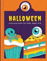 Halloween Coloring Book For Kids. Ages 4-8
