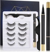 nep wimpers met magnetische eyeliner zwart - wimperextensions magnetic lashes - valse wimpers magneet potlood